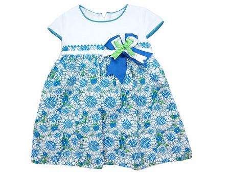 Vestido-niña-verano-estampado-azul-verde-blanco-ch10017-1