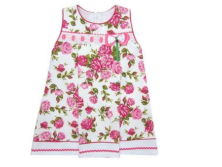 489bc92be Vestido niña piqué estampado flores   ch10012 - Ropa de niña ...