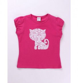Camiseta-manga-corta-gato-color-fucsia-ch11013-1